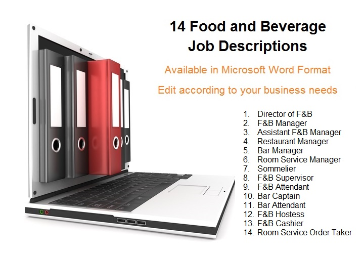 Job Descriptions - Food And Beverage Trainer