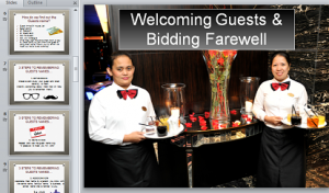 Welcoming and Bidding Farewell
